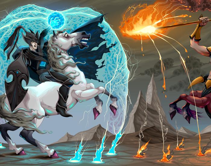 elements-fighting-scene-between-dark-elf-and-centaur-BUR2YCM-2019-12-05