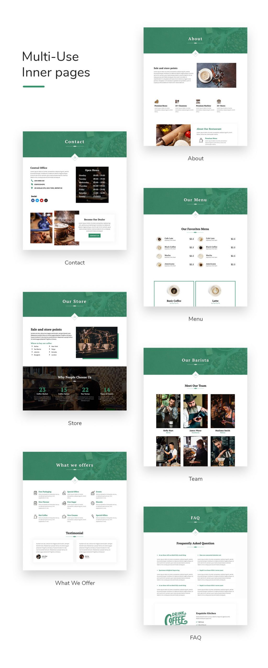 Coffesse | Coffee Shop Elementor Template Kit - 2