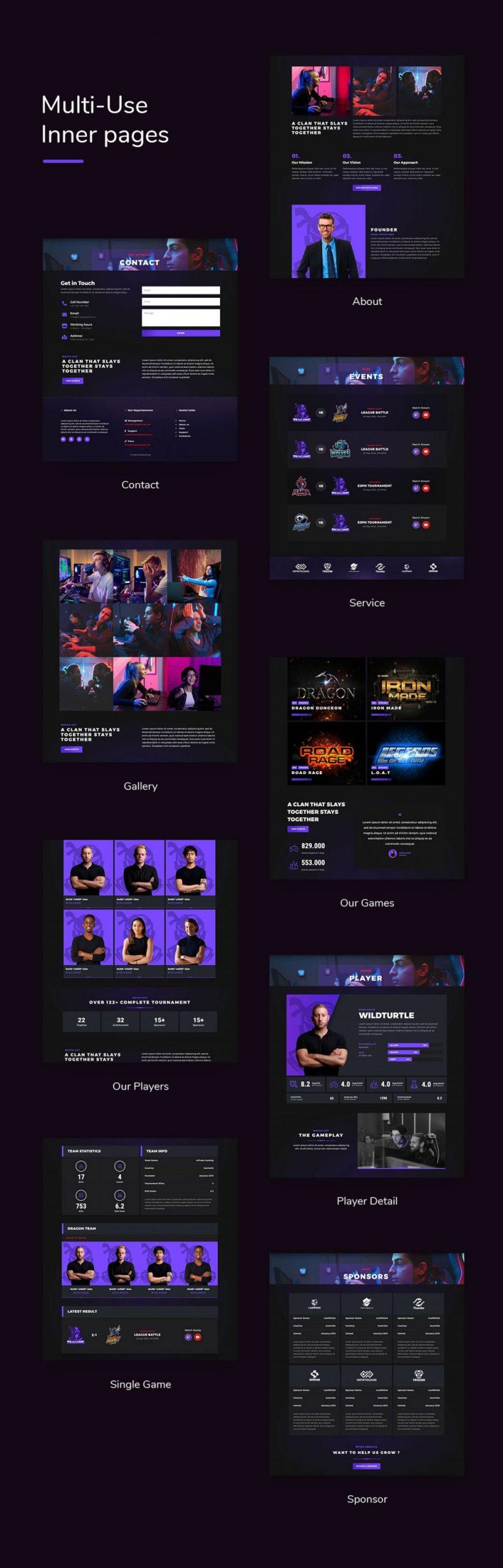 Esportize | eSports Elementor Template Kit - 2