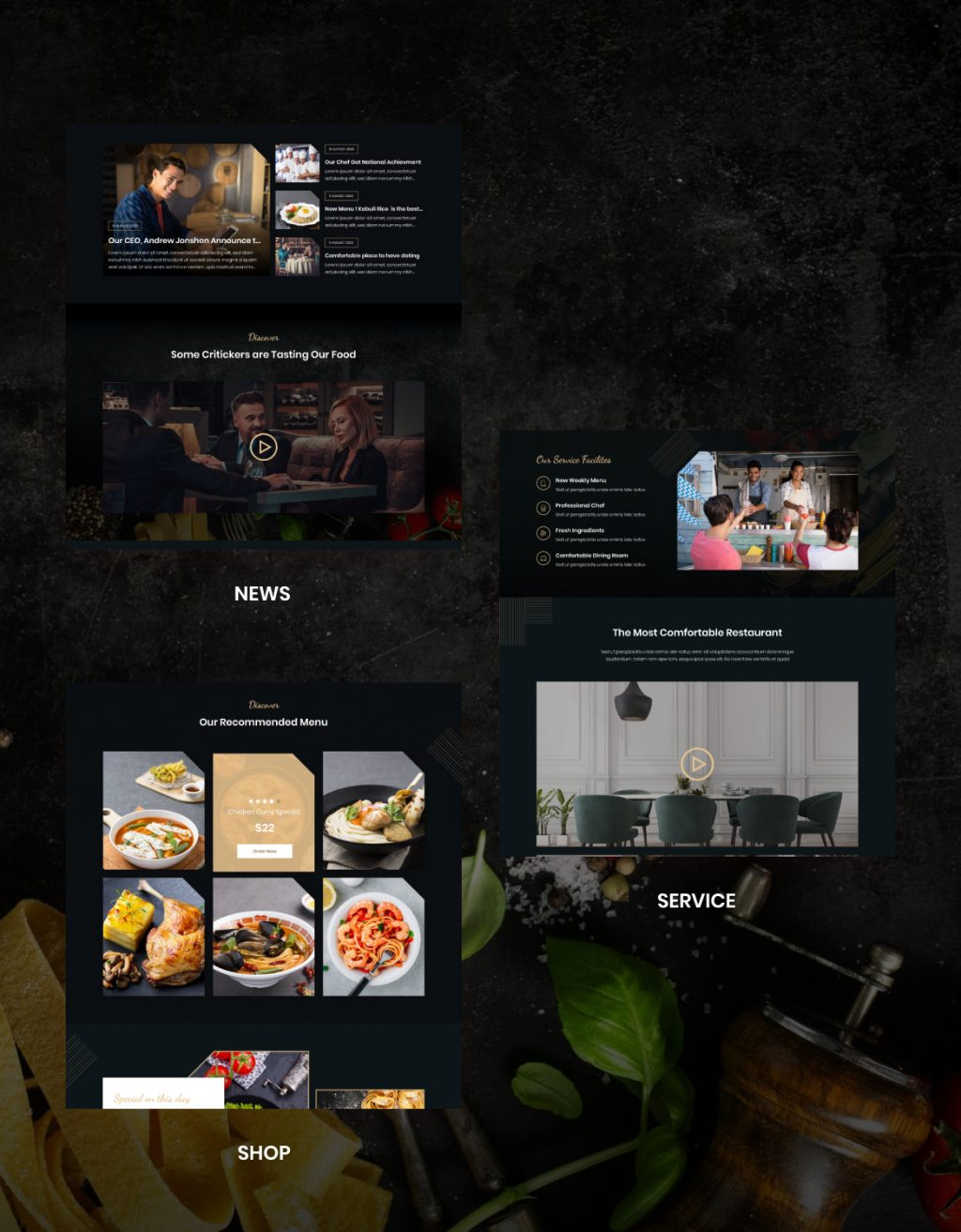 Lezzatos   Restaurant and Cafe for Adobe XD - 4